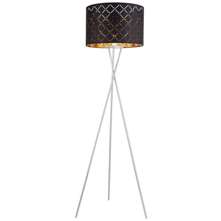 Luxury Ceiling Floodlight Living Room Fabric Stand Lamp Black Gold Switch Stand Luminaire Globo 15229S1  – Bild 1