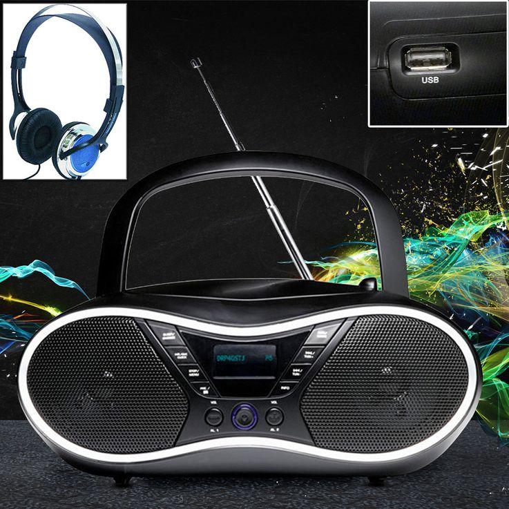 Hochwertige Stereo DAB+ Boombox mit Kopfhörer – Bild 2