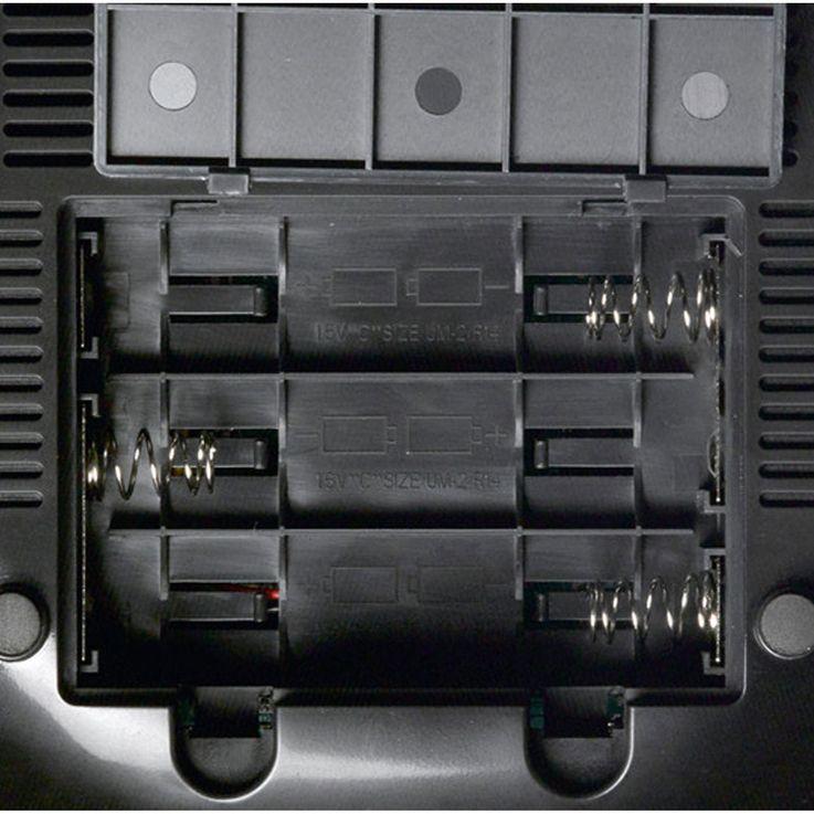 Tragbare FM Radio Anlage Lautsprecher MP3 USB CD AUX Kabel dot Display Alarm mit Smiley Aufkleber – Bild 6