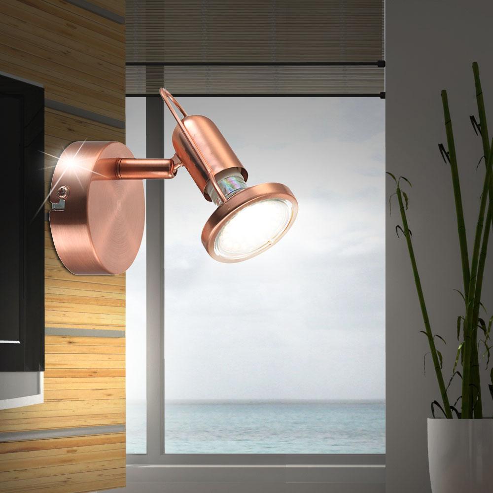 3er set led wandstrahler f r ihren flur aus kupfer anne unsichtbar lampen m bel innenleuchten. Black Bedroom Furniture Sets. Home Design Ideas
