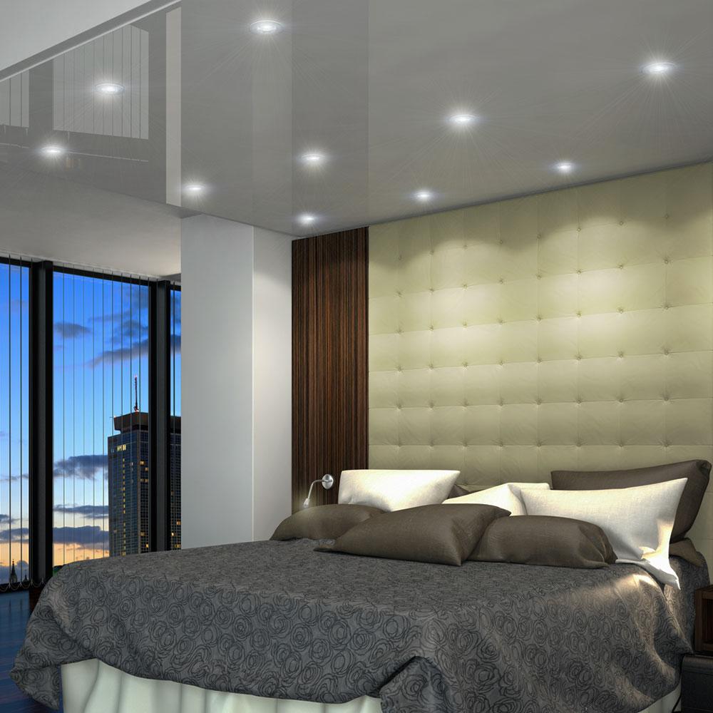 6x 12x 18x einbau strahler badezimmer spots wohnraum decken lampen alu geb rstet ebay. Black Bedroom Furniture Sets. Home Design Ideas