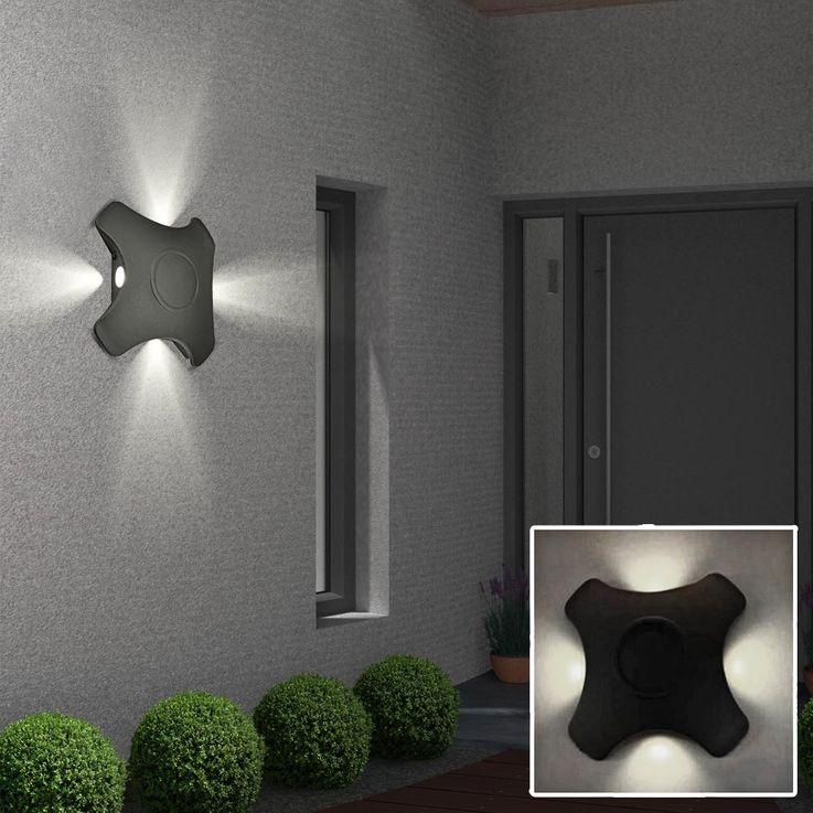 High quality LED wall light outdoor lighting lamp IP44 accent spotlight Harms 103182 – Bild 7