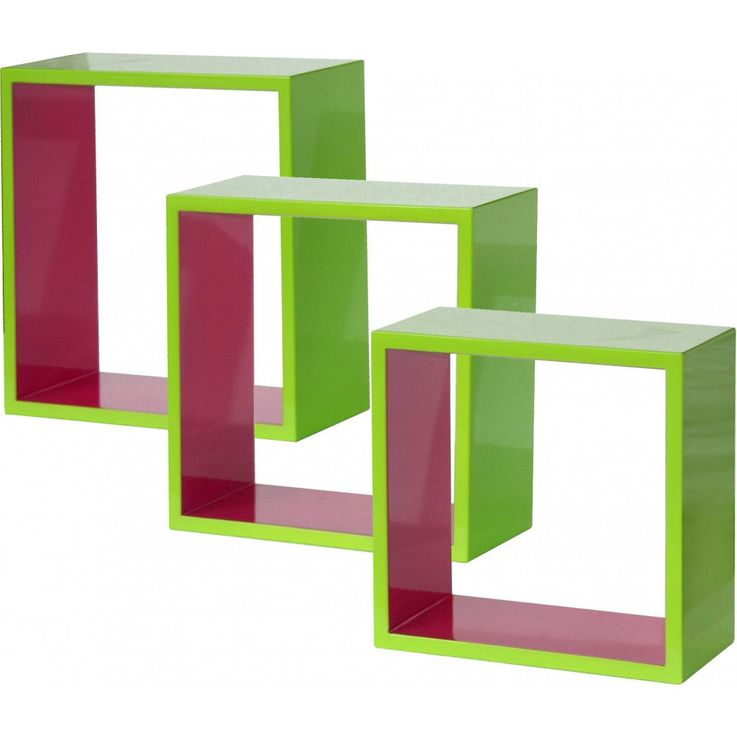 3-part shelf in the colors light green and pink – Bild 1