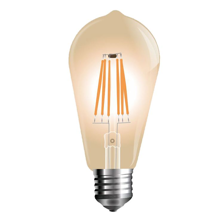 LED 4 Watt E27 Energy saving bulb 2200 K warmwhite Amber glass EEK A + 350 Lumen V-TAC 4361 – Bild 3