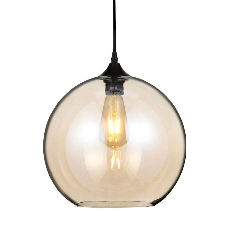 Retro Suspended luminaire Corridor Pendant lamp Guest rooms Ceiling Amber glass ball radiator V-TAC 3866 – Bild 1