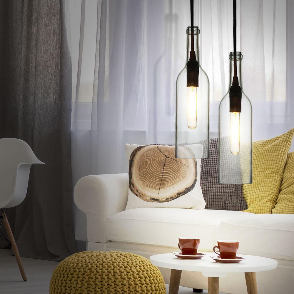 2er set rgb led flaschen h ngelampen aus klarem glas vt 7558 unsichtbar lampen m bel. Black Bedroom Furniture Sets. Home Design Ideas