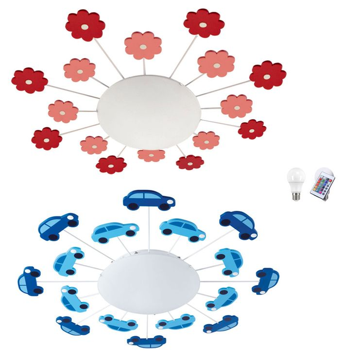 RGB LED children ceiling lights with flowers or cars DALIA – Bild 1
