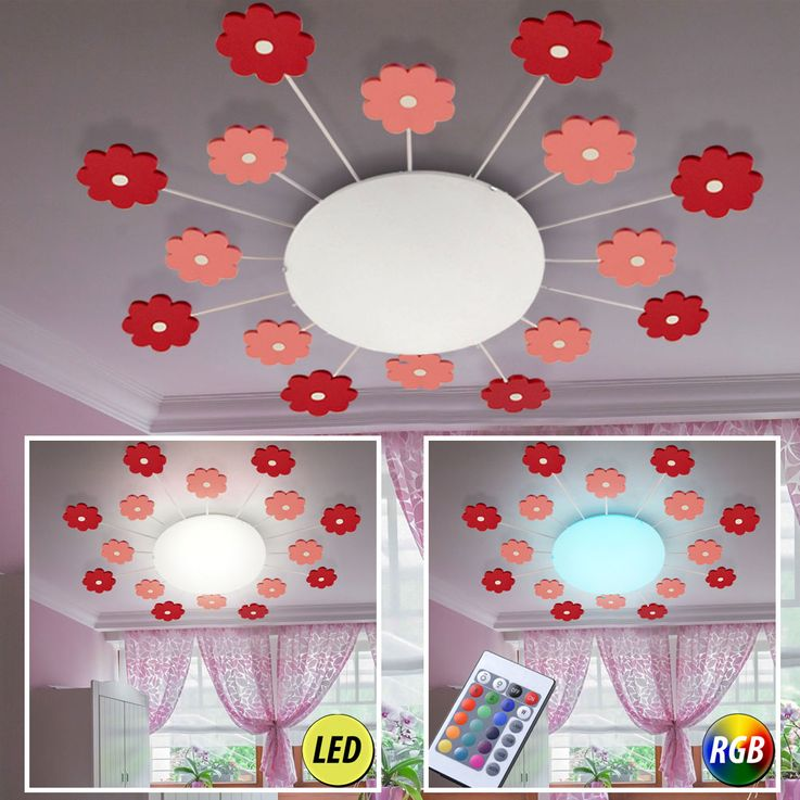 RGB LED children ceiling lights with flowers or cars DALIA – Bild 4