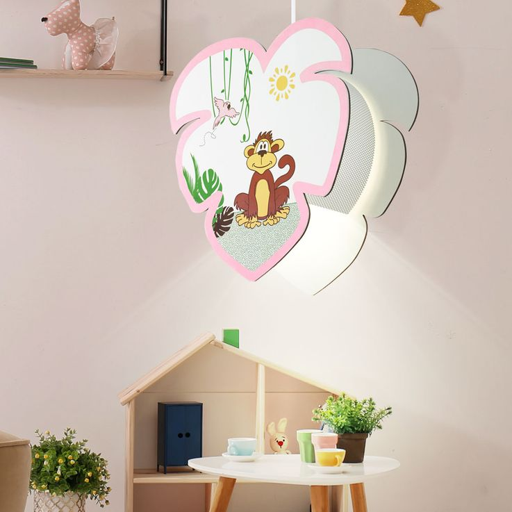 Kids pendulum lamp game room ceiling lighting monkey motif girl hanging lamp EGLO 96951 – Bild 3
