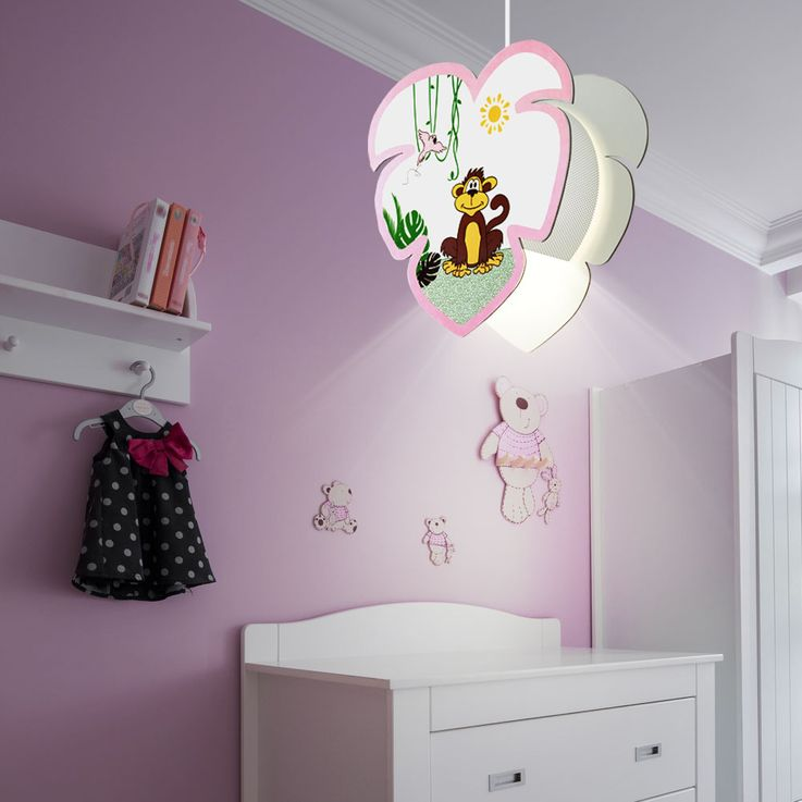 Kids pendulum lamp game room ceiling lighting monkey motif girl hanging lamp EGLO 96951 – Bild 5