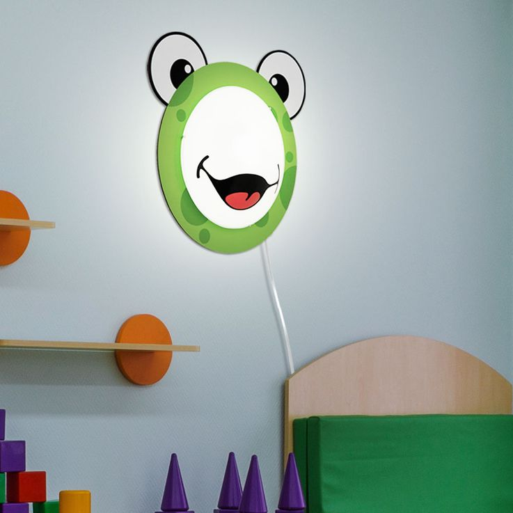 Children 's lamp wall light Children' s room motif Child light Frog pattern Animal green EGLO94457 – Bild 5