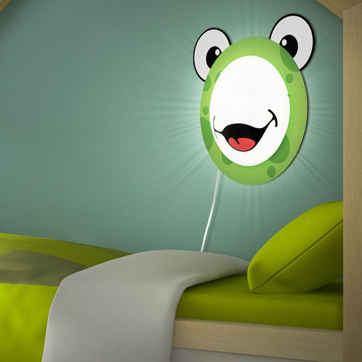 Children 's lamp wall light Children' s room motif Child light Frog pattern Animal green EGLO94457 – Bild 4