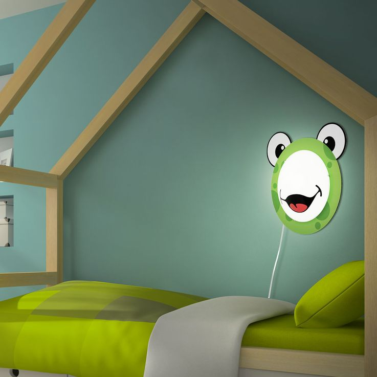 Children 's lamp wall light Children' s room motif Child light Frog pattern Animal green EGLO94457 – Bild 6