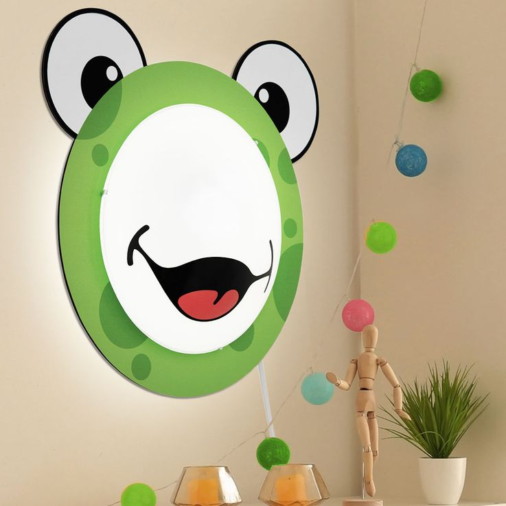 Children 's lamp wall light Children' s room motif Child light Frog pattern Animal green EGLO94457 – Bild 2
