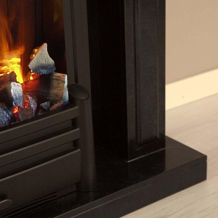 Elektroheizung Stand Kamin Knistereffekt Flammen Deko klassisch briliant schwarz – Bild 12