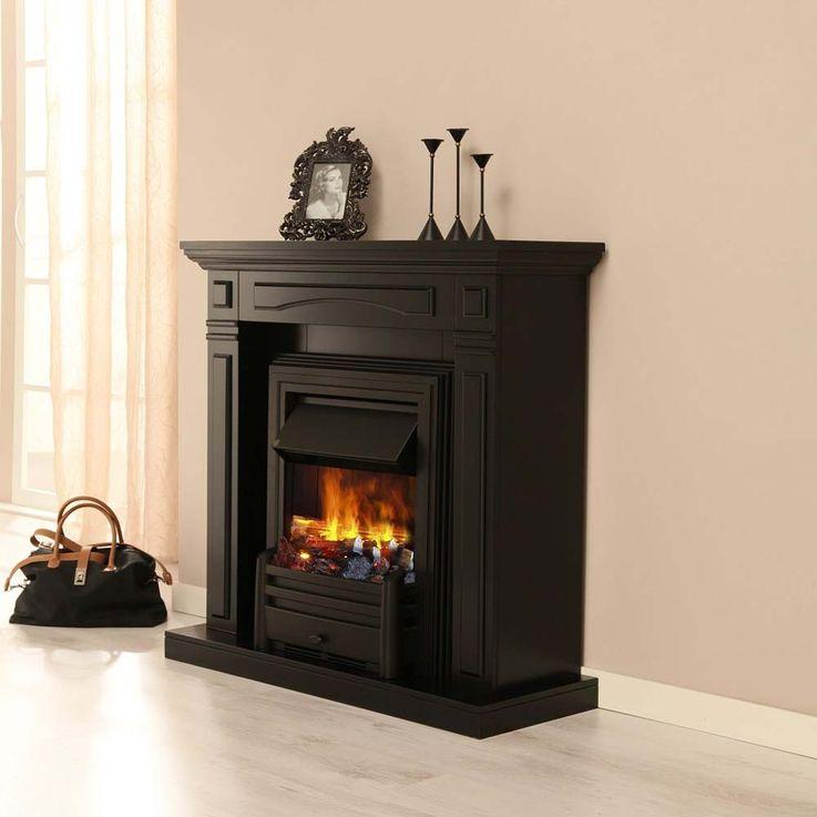 Deko Stand Elektro Kamin Flammen Knister Effekt Ofen schwarz klassisch Esszimmer – Bild 17
