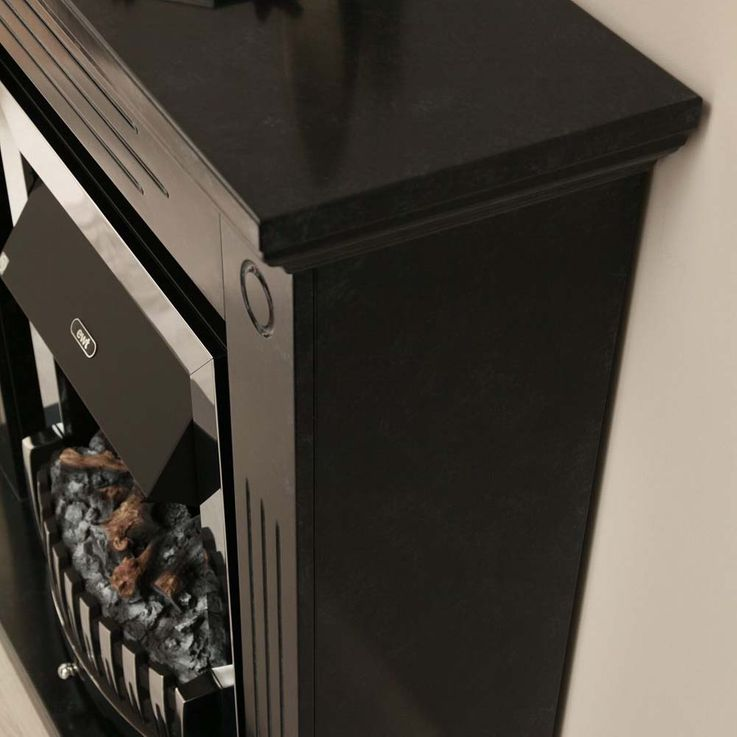 Kamin Flammen Effekt Deko Heizung Möbel Stand Elektro Ofen schwarz grau Flur – Bild 4