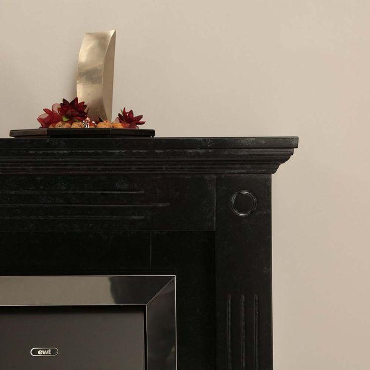 Kamin Flammen Effekt Deko Heizung Möbel Stand Elektro Ofen schwarz grau Flur – Bild 7