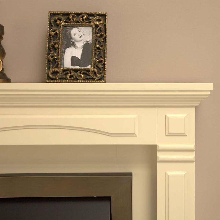 Stand Kamin Heizung creme weiß Effekt Flammen Knister Ofen Schlaf Zimmer Möbel – Bild 5