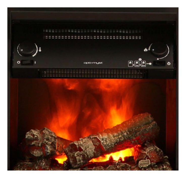 Elektro Stand Kamin klassisch marmoriert schwarz Effekt Deko Flammen Heizung – Bild 2