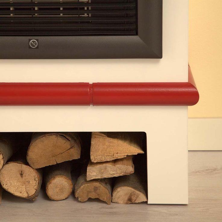 Design Elektro Heizung Stand Kamin Effekt Flammen Deko Ofen brilliant weiß  – Bild 3