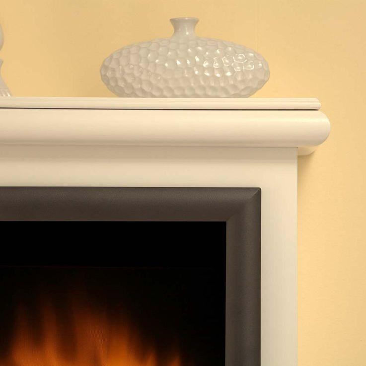 Design Elektro Heizung Stand Kamin Effekt Flammen Deko Ofen brilliant weiß  – Bild 4
