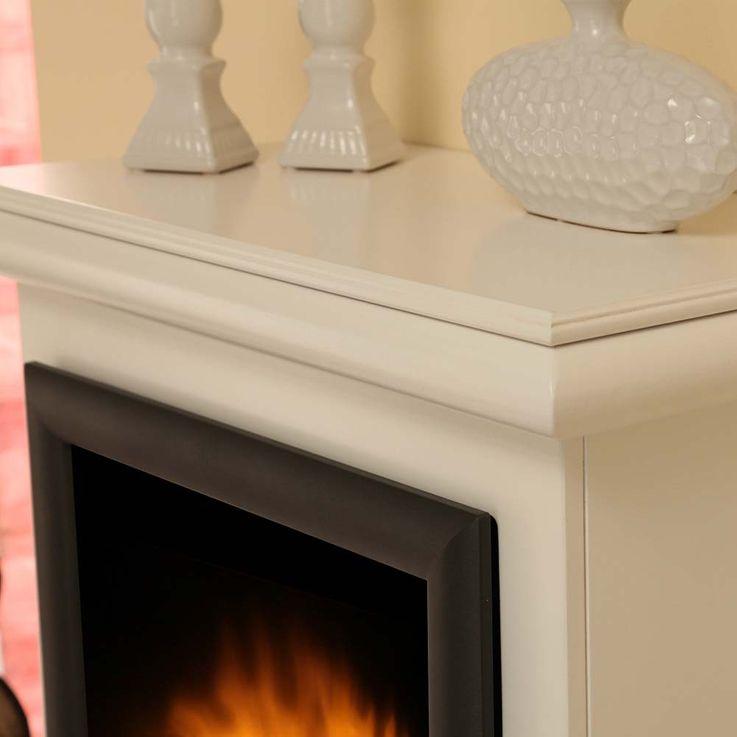 Design Elektro Heizung Stand Kamin Effekt Flammen Deko Ofen brilliant weiß  – Bild 9