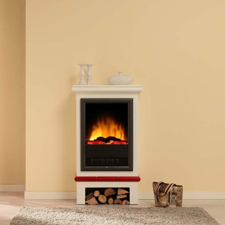 Design Elektro Heizung Stand Kamin Effekt Flammen Deko Ofen brilliant weiß  – Bild 11