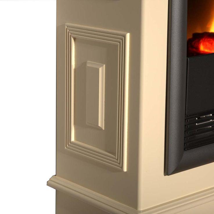 Elektro Luxus Stand Kamin Heizung Ofen Deko Flammen Knister Effekt Flur Büro – Bild 5