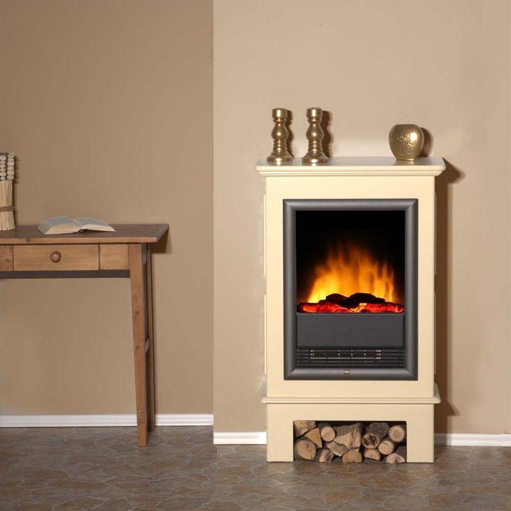 Elektro Luxus Stand Kamin Heizung Ofen Deko Flammen Knister Effekt Flur Büro – Bild 9