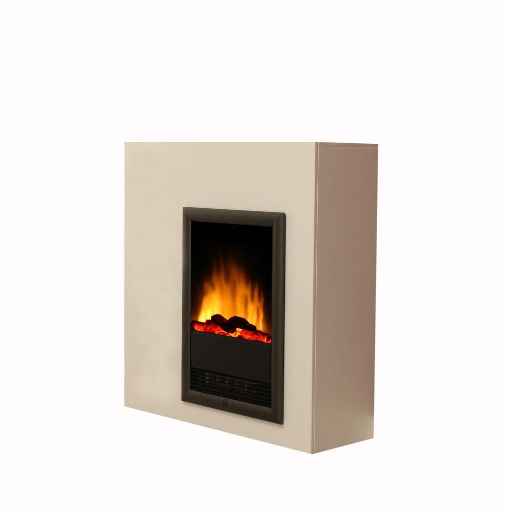 design stand kamin elektro heizung deko flammen led effekt brillant wei ofen 4250918103614 ebay. Black Bedroom Furniture Sets. Home Design Ideas