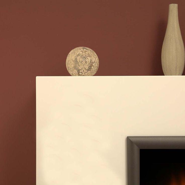 Design Stand Kamin Elektro Heizung Deko Flammen Effekt brilliant weiß Ofen – Bild 3
