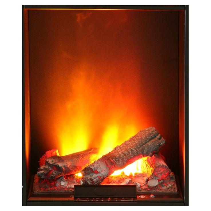 3D Flammen Effekt Stand Kamin Ofen Elektro Heizung brilliant weiß Wohn Zimmer – Bild 2