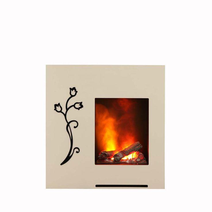 Stand Kamin 3D Effekt Flammen Ofen Heizung brilliant weiß Schlaf Wohn Zimmer  – Bild 1