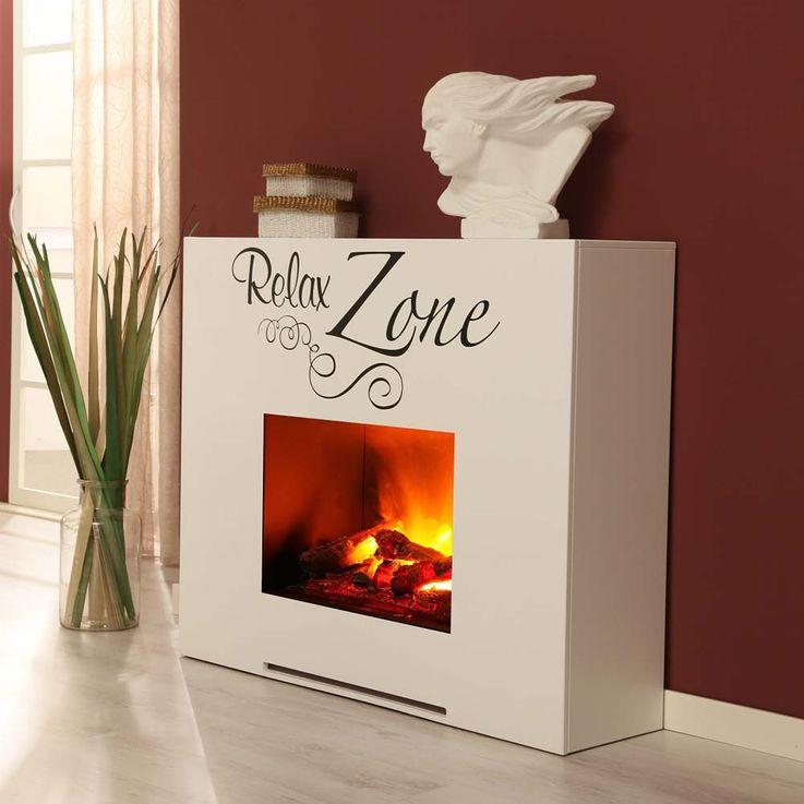 Indoor Stand Kamin Design Deko Flammen Elektro Heizung Flammen Effekt weiß – Bild 6