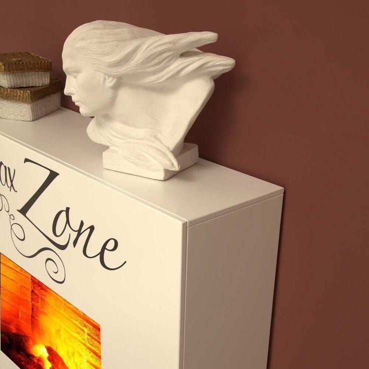Design Indoor Stand Kamin Elektro Heizung Deko Flammen Effekt brilliant weiß – Bild 11