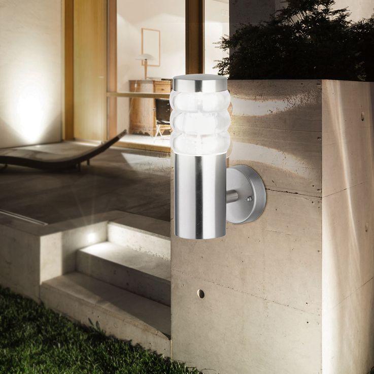 Außen Bereich Wand Lampe Grundstück Park Beleuchtung Edelstahl Strahler Leuchte Wofi 4022.01.97.7000 – Bild 2