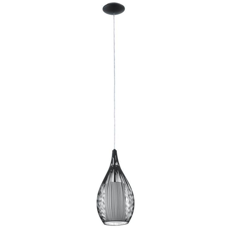 Pendant Lamp Bedroom Hanging Ceiling Lamp Cone Lighting black Eglo 92252 – Bild 1