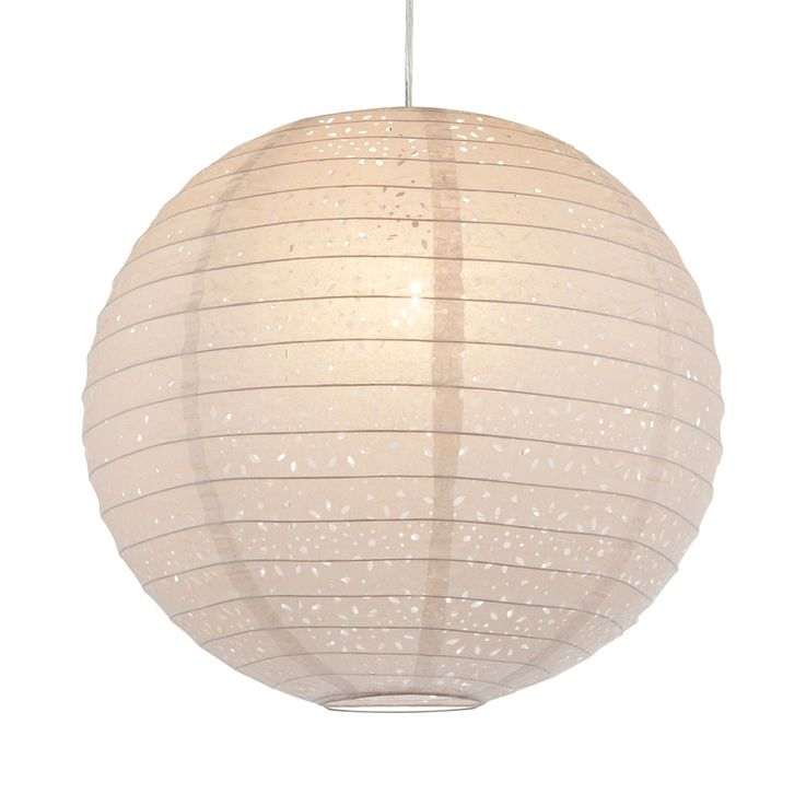 E27 suspension pendentif lampe 230 volts papier 60 watts trous métalliques perforations IP20 blanc  – Bild 3