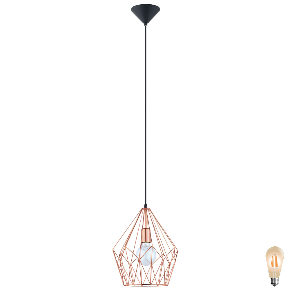 Vintage Stil LED Hängelampe für Ihren Wohnraum CARLTON Unsichtbar ...