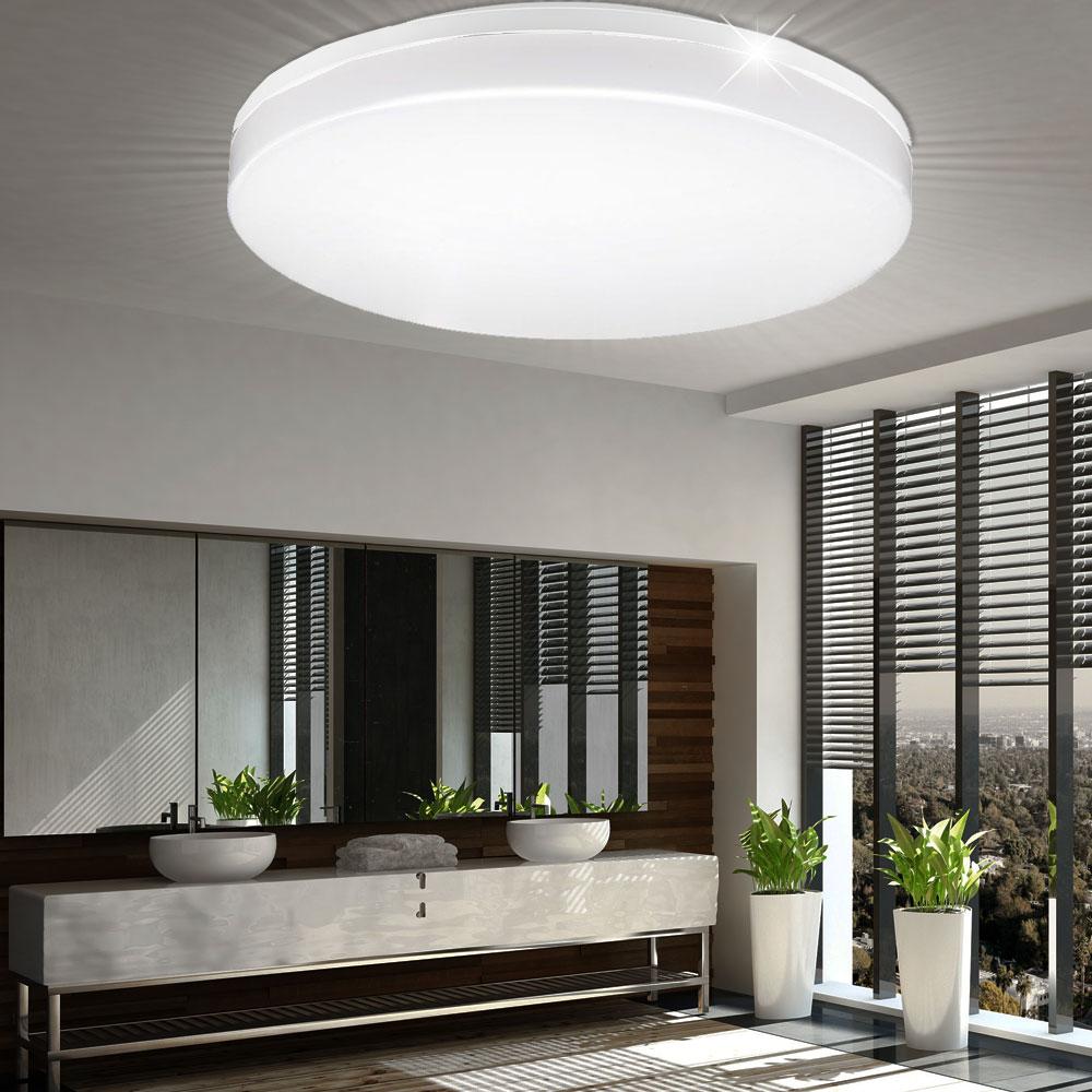 LED Decken Lampe weiß Bade Zimmer Beleuchtung Tageslicht Feuchtraum Leuchte  rund IP20 V TAC 20   ETC Shop