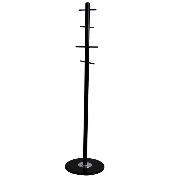 Dresses Wardrobe Jackets Stand Black Guests Room Coat 8x Hooks Marble Suspension BHP B991611 – Bild 1