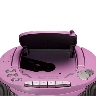 CD Player Stereo Radio Boxes Girls music set in set including headphones and Hello Kitty stickers – Bild 6