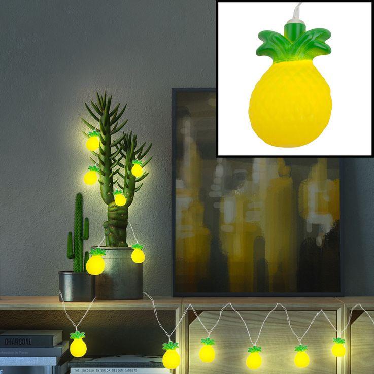 LED Déco Lumières Chaîne Ananas Figurines Éclairage Salon Sommeil Lampes Jaune Vert Globo 29984 – Bild 2