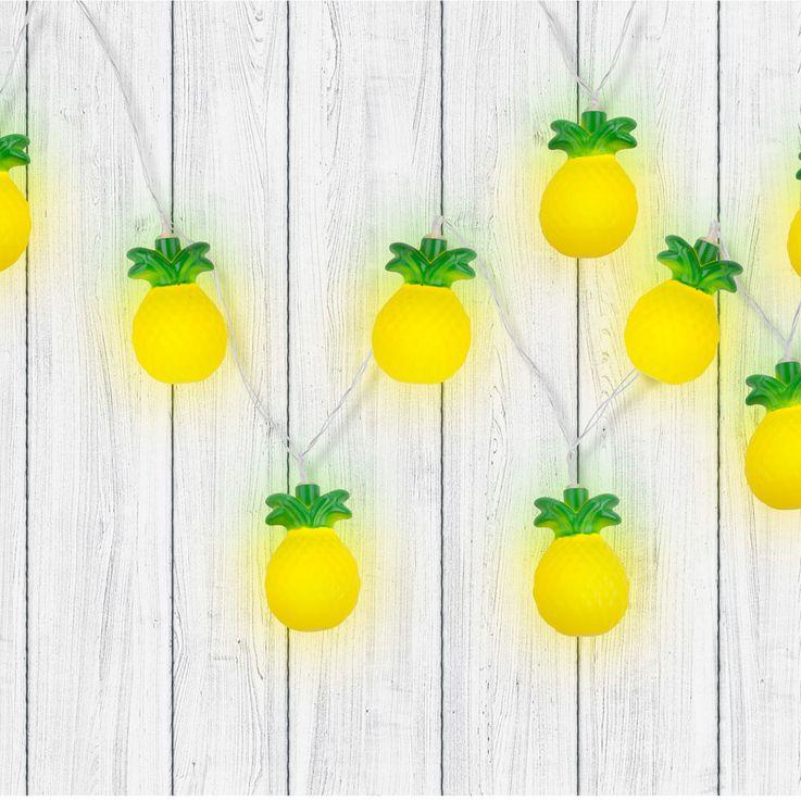 LED Deco Lights Chain Pineapple Figurines Lighting Living Sleep Room Lamps Yellow Green Globo 29984 – Bild 3
