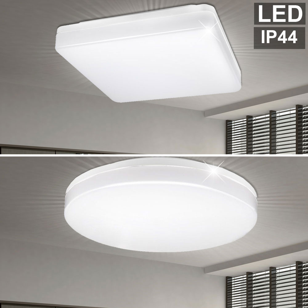 Details About Led Ceiling Lights Bathroom Daylight Lighting Ip44 Porch Outdoor Lamps Modern