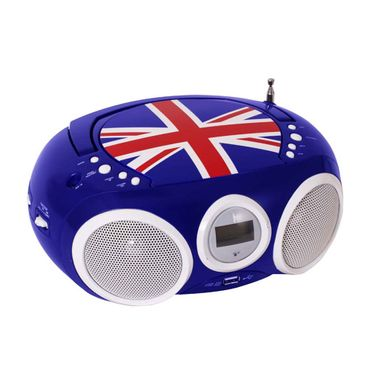 Design CD Player Stereo Radio USB System Boys Kids Room Music Set Including Stickers – Bild 5