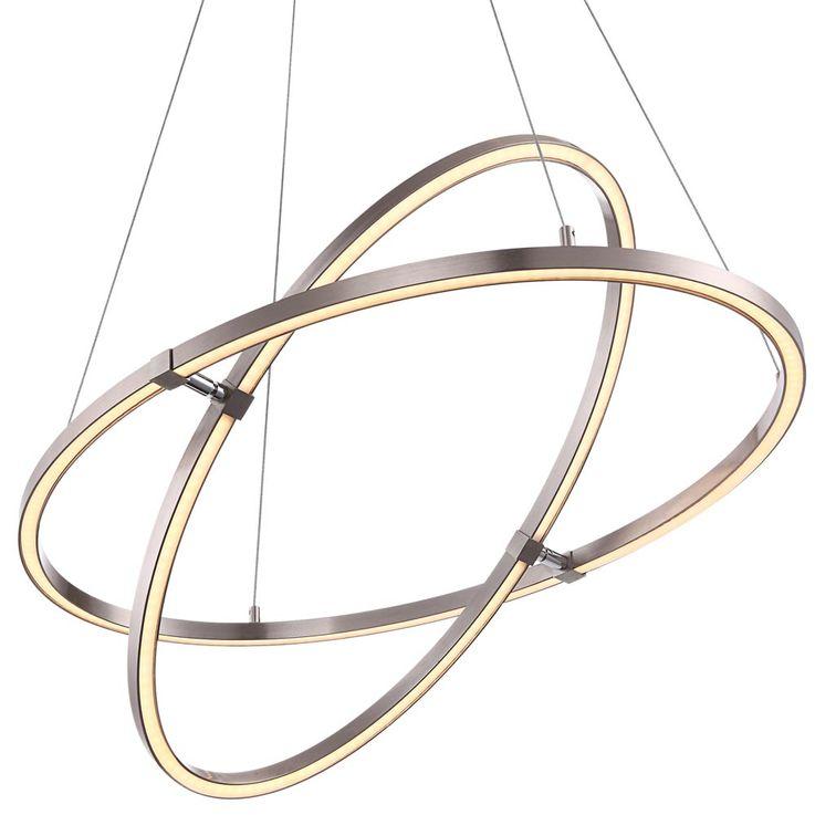 Design LED ceiling hanging lamp living room 3 steps switch pendulum rings light  Globo 67809HLU – Bild 7