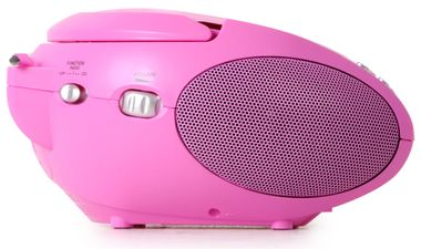 Stéréo FM Radio Girl Lecteur CD Rose LCD Display Music System Portable Set Incl.Cœur Autocollant – Bild 5