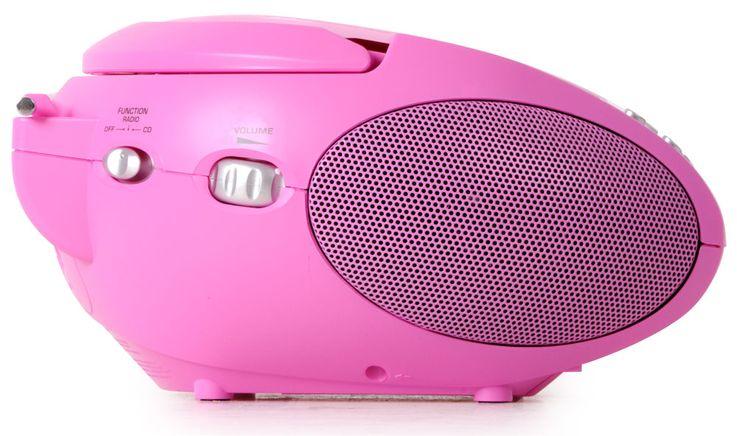 Stereo FM Radio Mädchen CD Player pink LCD Display Musik Anlage tragbar im Set inkl.Herzen Sticker – Bild 5